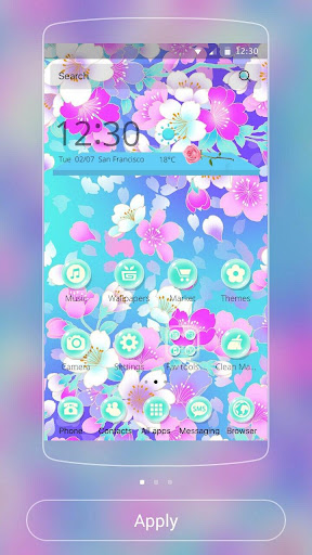 Blossom sakura Theme screenshot