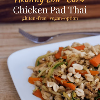 Healthy Low-Carb Chicken Pad Thai.