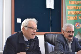 Photo: Meeting in Kurdî Der office - on the left İbrahim Halil Taş