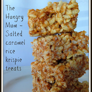 Brown Butter Rice Crispy Treats / Salted Caramel Rice Crispy Squares