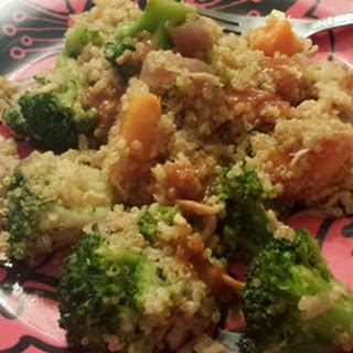 Quinoa with Sweet Potatoes and Broccoli.