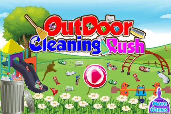 Cleaning games for girls - screenshot