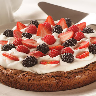 Summer Berry Brownie Torte.