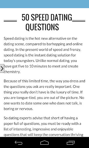 What are some good speed dating questions