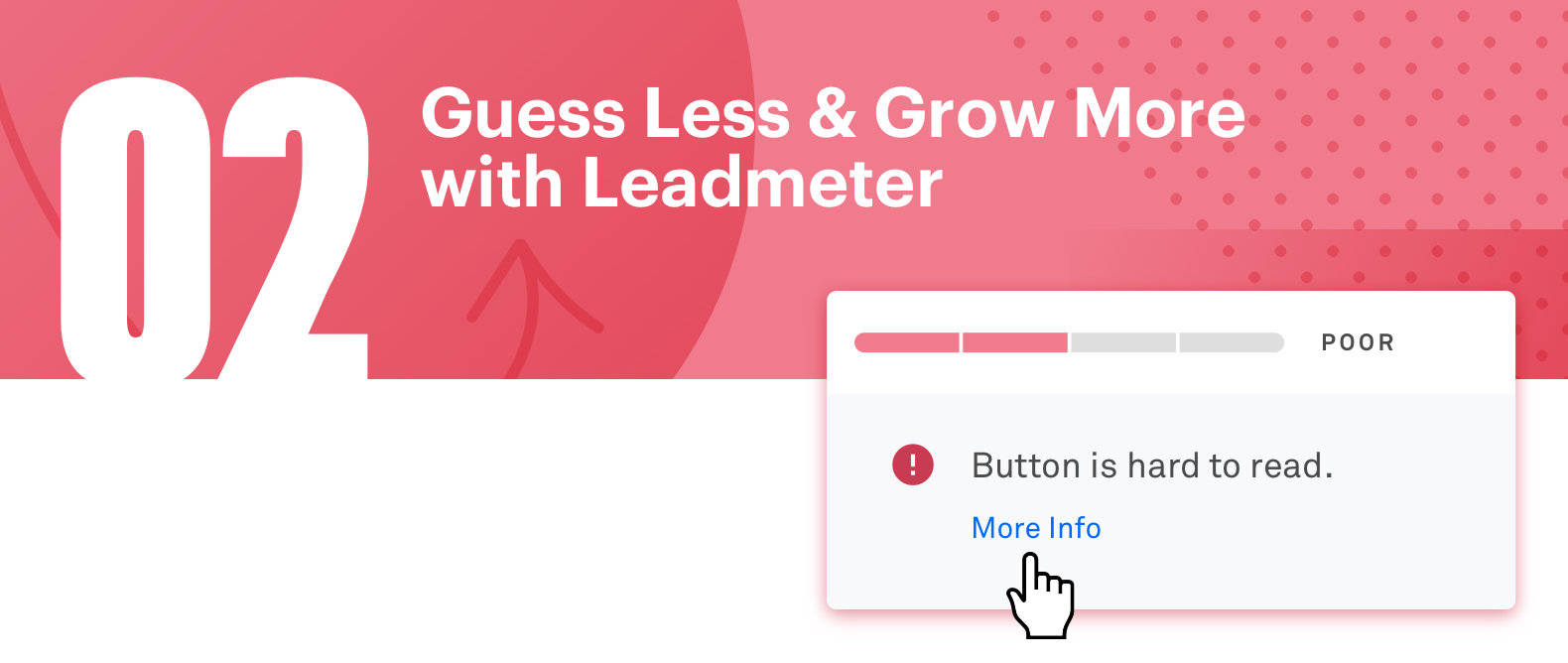 Leadmeter helps you optimize your page before you publish