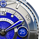 Blue Lizard Watch Face