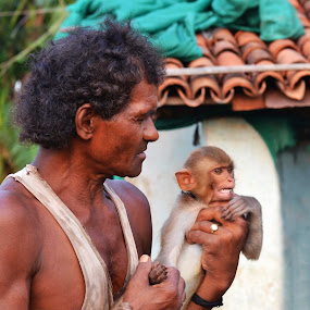 by Ruhi Chanda - People Street & Candids ( portrait, monkey, animal )