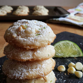 White Chocolate and Lime Cookies.