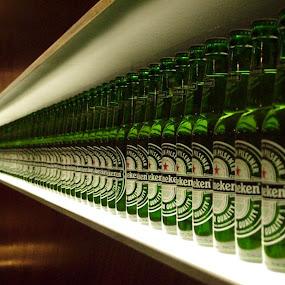 Heineken Beer by Jud Joyce - Artistic Objects Other Objects ( beer, heineken, green, amsterdam, bottles )