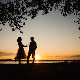 by Daniel Anghelache - Wedding Bride & Groom