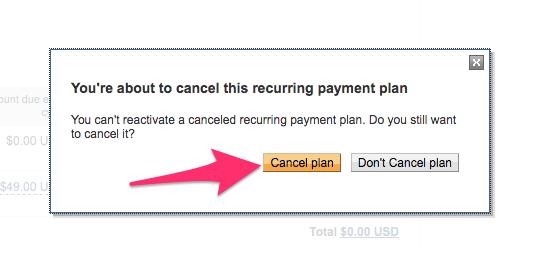 Cancel Plan