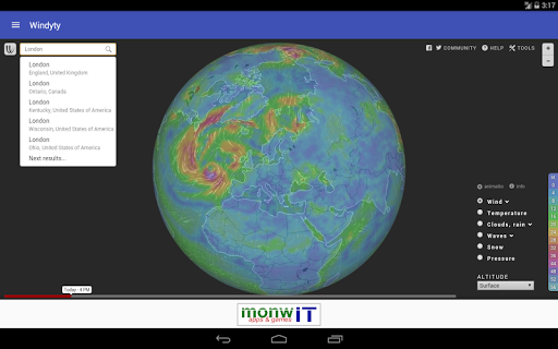 Windyty - Pocket Weather screenshot