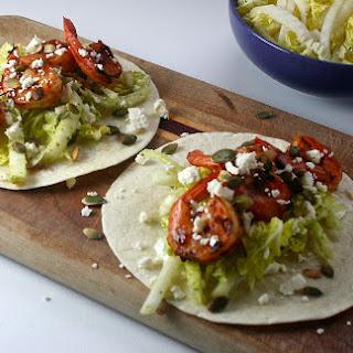Chipotle Shrimp Tacos with a Jicama Slaw and Pepitas