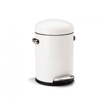 Pedalhink Mini Retro 4.5 liter Vit Simplehuman