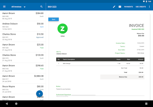 Zoho Invoice - Online Invoicing & Billing Software 5.23.07 screenshots 9