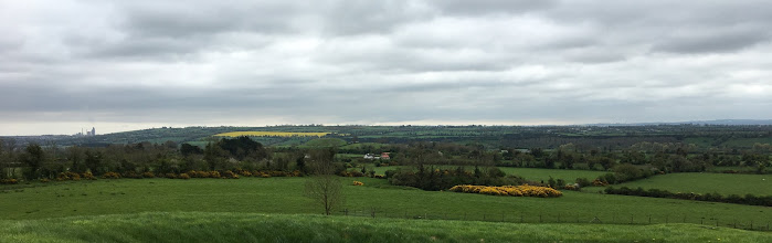 Photo: The view from atop the Knowth tomb