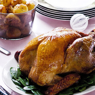 Roast Turkey with Cranberry and Macadamia Stuffing.