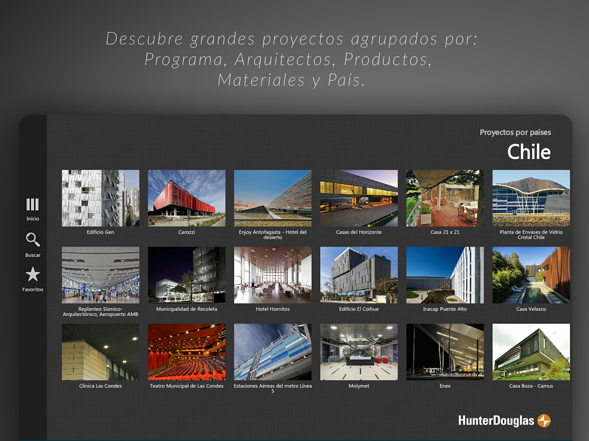 HunterDouglas Architectural: captura de pantalla