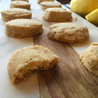 Vegan Lemon-Chamomile Shortbread Cookies.
