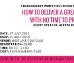 Xtraordinary Women Networking Event | Southern Suburbs Chapter : Westlake Golf Club