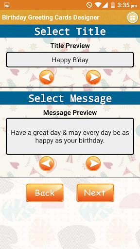 Birthday Greeting Cards Maker  screenshots 2