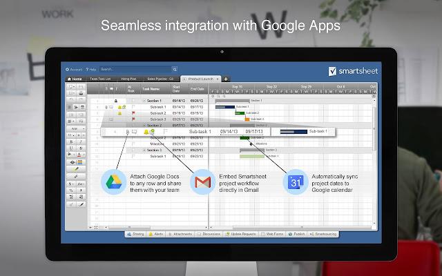 Smartsheet Chrome App