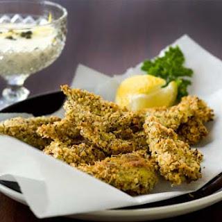 Gluten Free Crispy Artichoke Hearts with Quick Caper Aioli