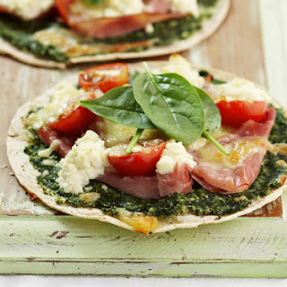 Spinach and Ham Tostadas