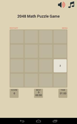 2048 Math Puzzle Game