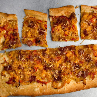 Pancetta and Pepper Pizza