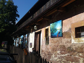 Photo: Galeria obrazów na naszym domu w Kotle, lato 2012