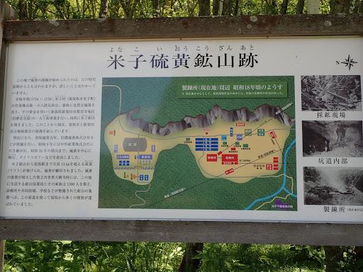 米子硫黄鉱山跡説明