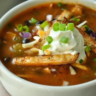 Crock-pot Chicken Tortilla Soup.