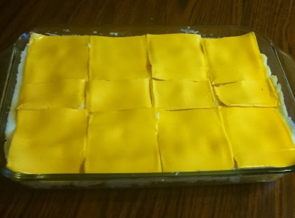Top with cheese slices.  Bake 20 minutes or until bubbly.  Enjoy!