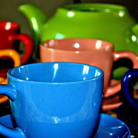Coffee Cups by Leony Sibug - Artistic Objects Other Objects ( cup, colorful coffee cups and kettle, kettle, colorful kettle, cups, ceramic cups, coffee, colorful coffee cups, coffee cup, colorful coffee cups & kettle, colorful ceramics, ceramic kettle )