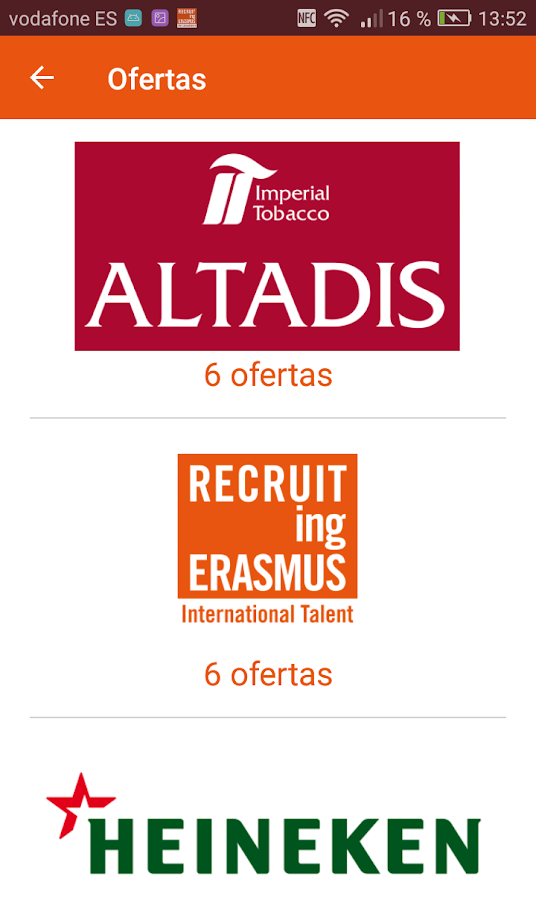 Recruiting Erasmus- screenshot
