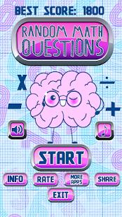 Random Math Questions - náhled