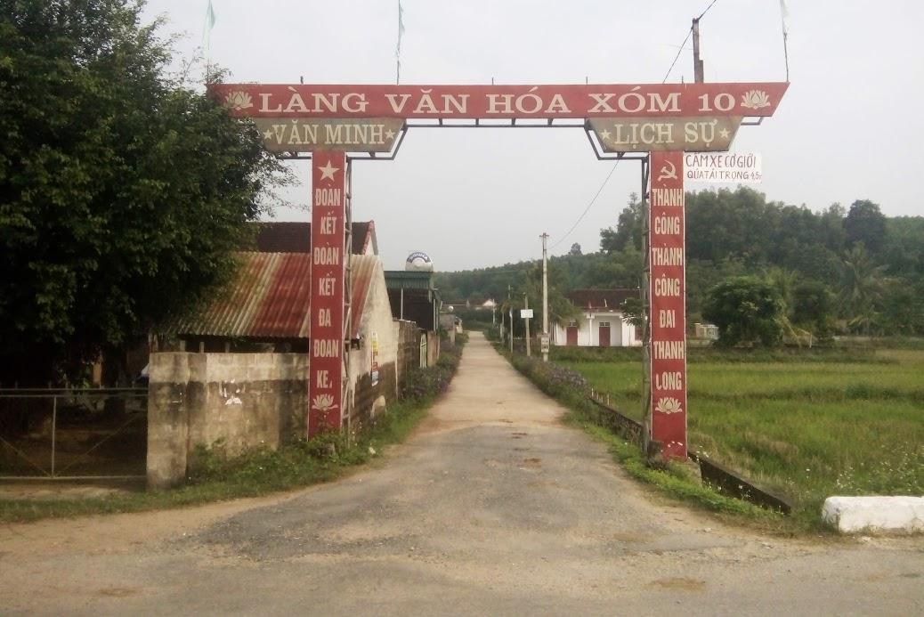 Xóm 10, xã Nghĩa Hưng - nơi xảy ra vụ việc
