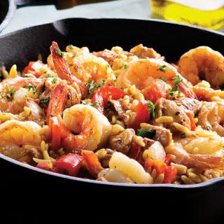Chicken & Shrimp Orzo Paella