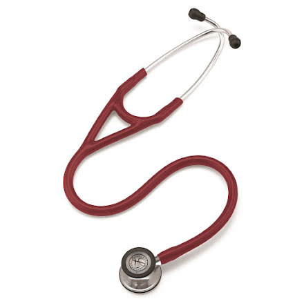 Littmann Cardiology IV Stetoskop Mirror Finish Chestpiece-Burgundy Tube