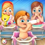 Newborn Baby Triplets: Mommy Care Nursery Icon