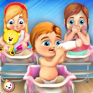 Newborn Baby Triplets: Mommy Care Nursery