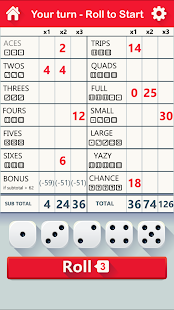 Yazy the best yatzy dice game - náhled