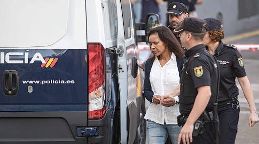 Llegada de Ana Julia Quezada este miércoles al Palacio de Justicia