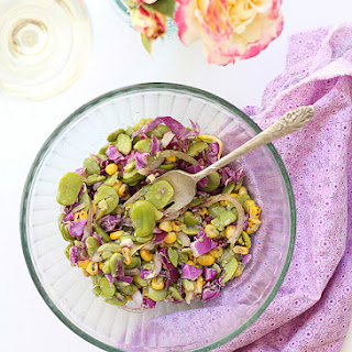 Fava Bean Salad Recipe With Honey Vinaigrette Dressing