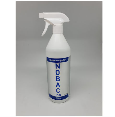 Nobac hånd- og overflatedesinfeksjon 1L sprayflaske