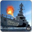 Moderno buque de guerra de la icon