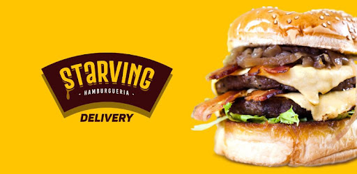 App Starving Hamburger Delivery, order and receive it from the comfort of your home.