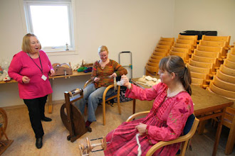 Photo: De Spinners fanns inte bara med som utställare på Torget utan hade även workshops i anslutning.