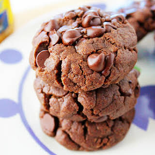 Flourless Double Chocolate Sunflower Seed Butter Cookies.